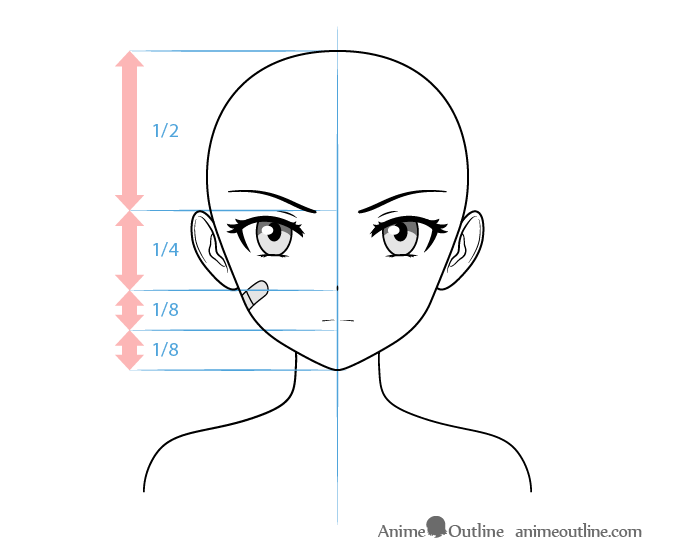 Anime Tough Female Character Face Drawing Anime Character Drawing Anime Head Shapes Anime Faces Expressions