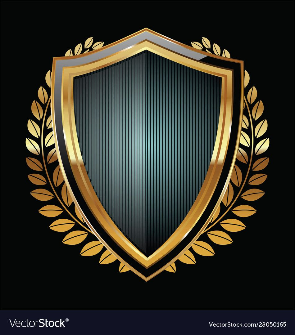 Golden Shield Download A Free Preview Or High Quality Adobe Illustrator Ai Eps Pdf And High Resolution Jpeg Versions Logo Design Art Shield Vector Shield