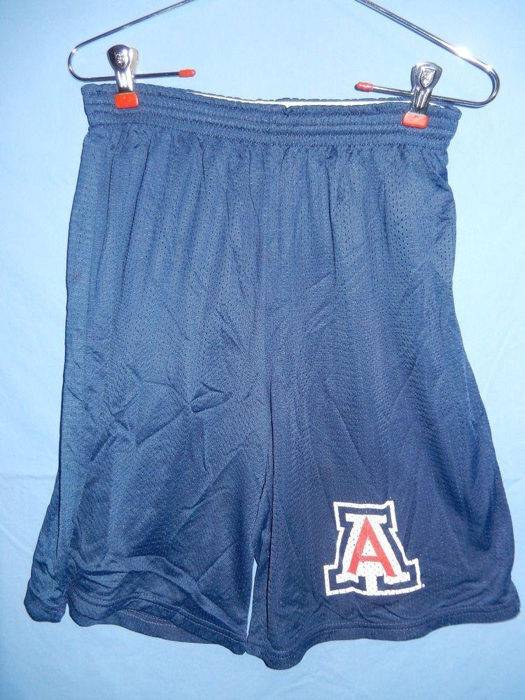c8c0517d78164 University of Arizona Wildcats Mesh Shorts Medium Nylon Blue Men s