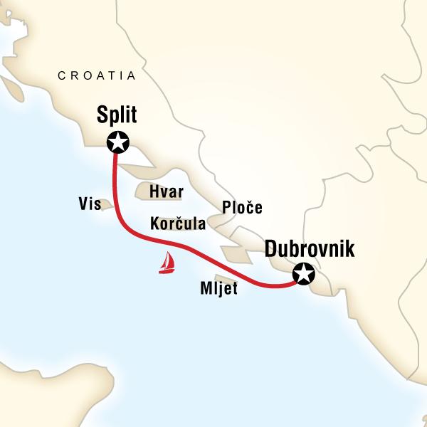 Sailing Croatia Dubrovnik To Split Lonely Planet Sailing Croatia Split Croatia Croatia