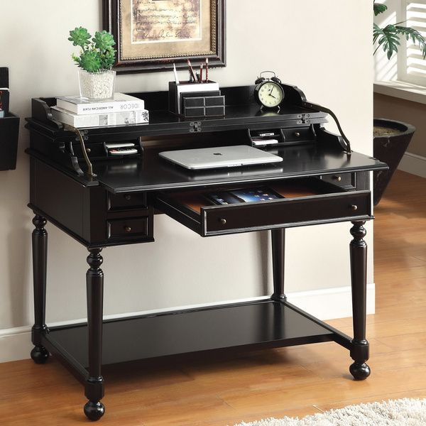 Furniture Of America Traditional Multi Storage Pull Out Secretary Writing Desk Ping
