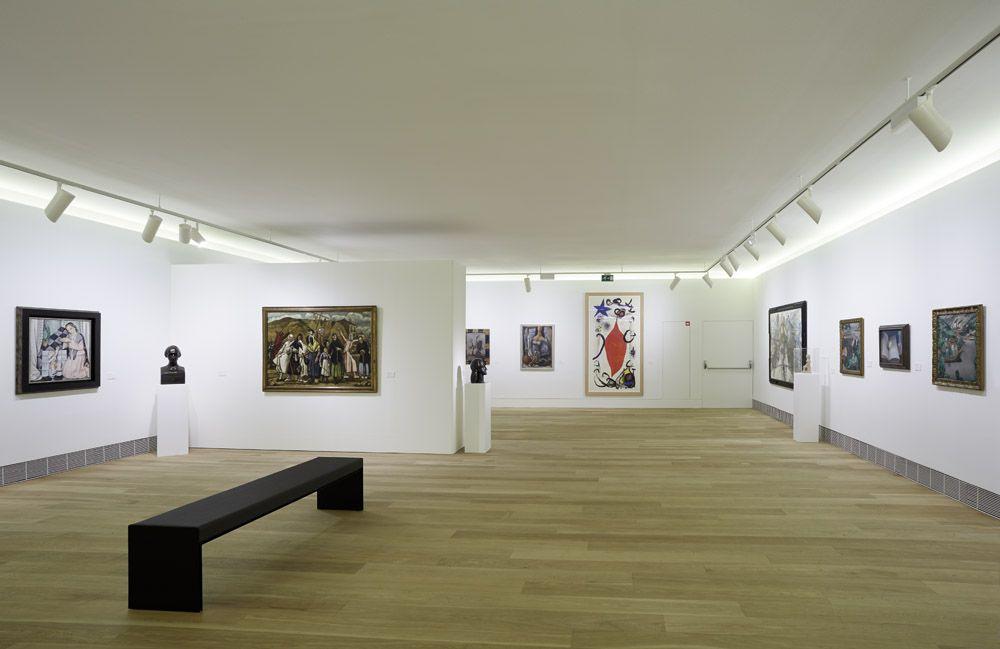 Edificio de Ampliación, sala 23, con obra de Arte Nuevo y de Vanguardia (Picasso, Miró, Dalí, Gargallo, Lobo, Solana...). Fotografía: Marcos Morilla.