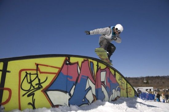 Want This Rail In My Backyard Snowboarding Pinterest - Backyard snowboarding