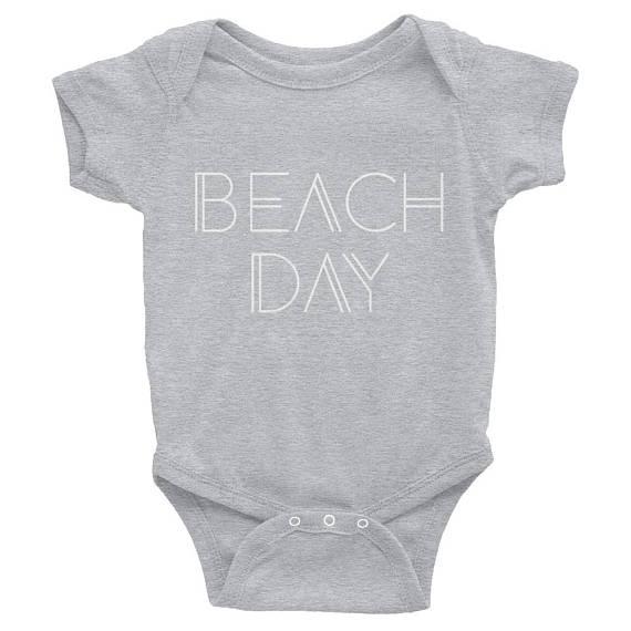 d31b3a265 Beach Day Short-Sleeve Infant Bodysuit Onesie   Beach Day Onesie   Beach  Baby   Beach Bum   Beach Li