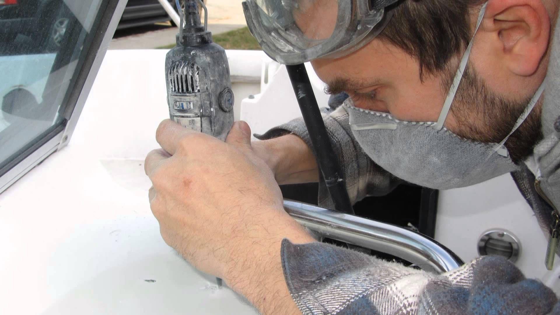 Boat Repair: Repairing holes in a Fiberglass Console
