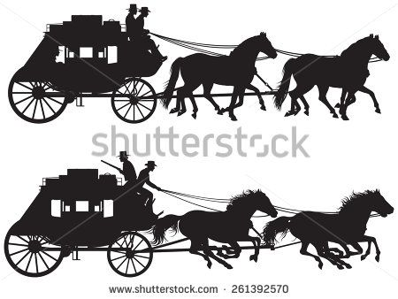 Vector Art Old Carriages And Coaches Free Carriage And Coach Vectors Sillouette Art Silhouette Pictures Horse Wagon
