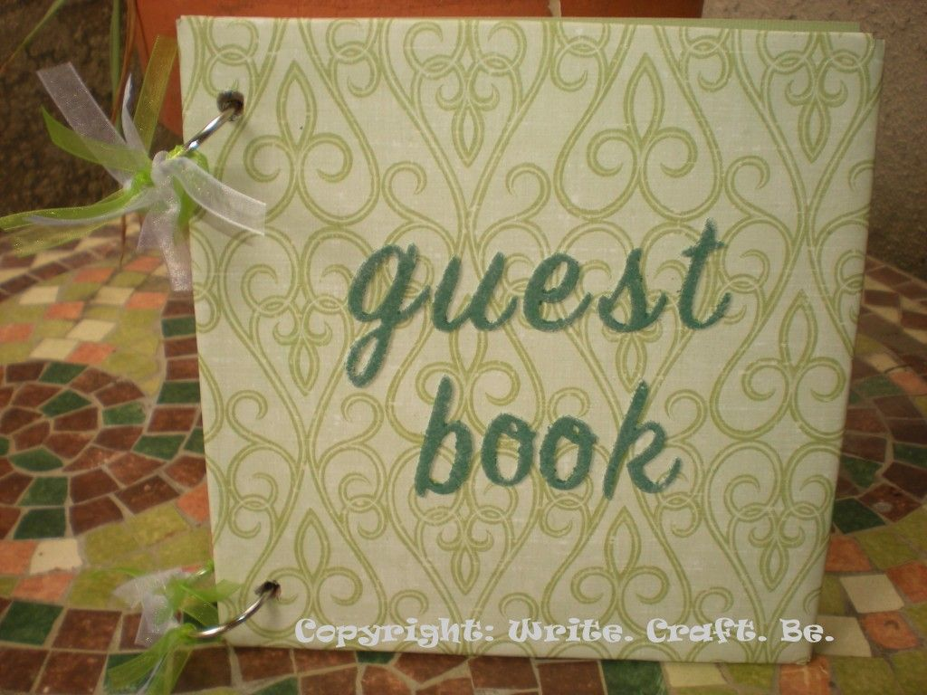 how to make your own wedding guest book for dirt cheap!   Crafty ...