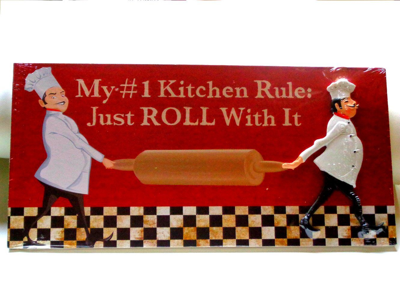 fat chef kitchen plaque wall sign 15 95 fat chefs kitchen decor rh pinterest com