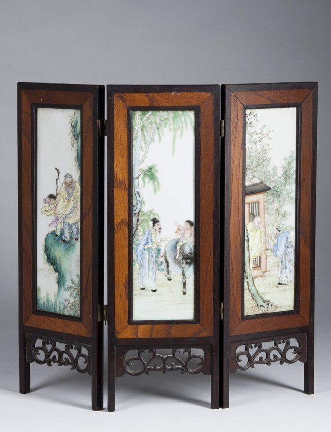 important chinese three panel table screen on artistic creative rh pinterest com