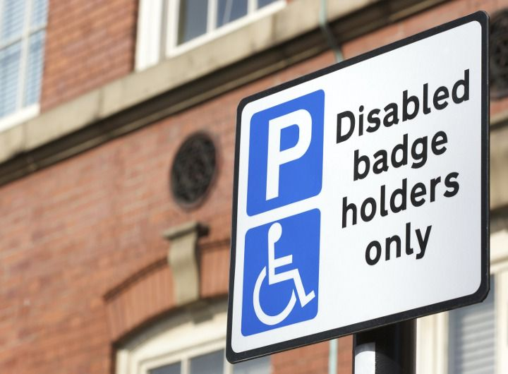 Blue badge disability parking permit invisible