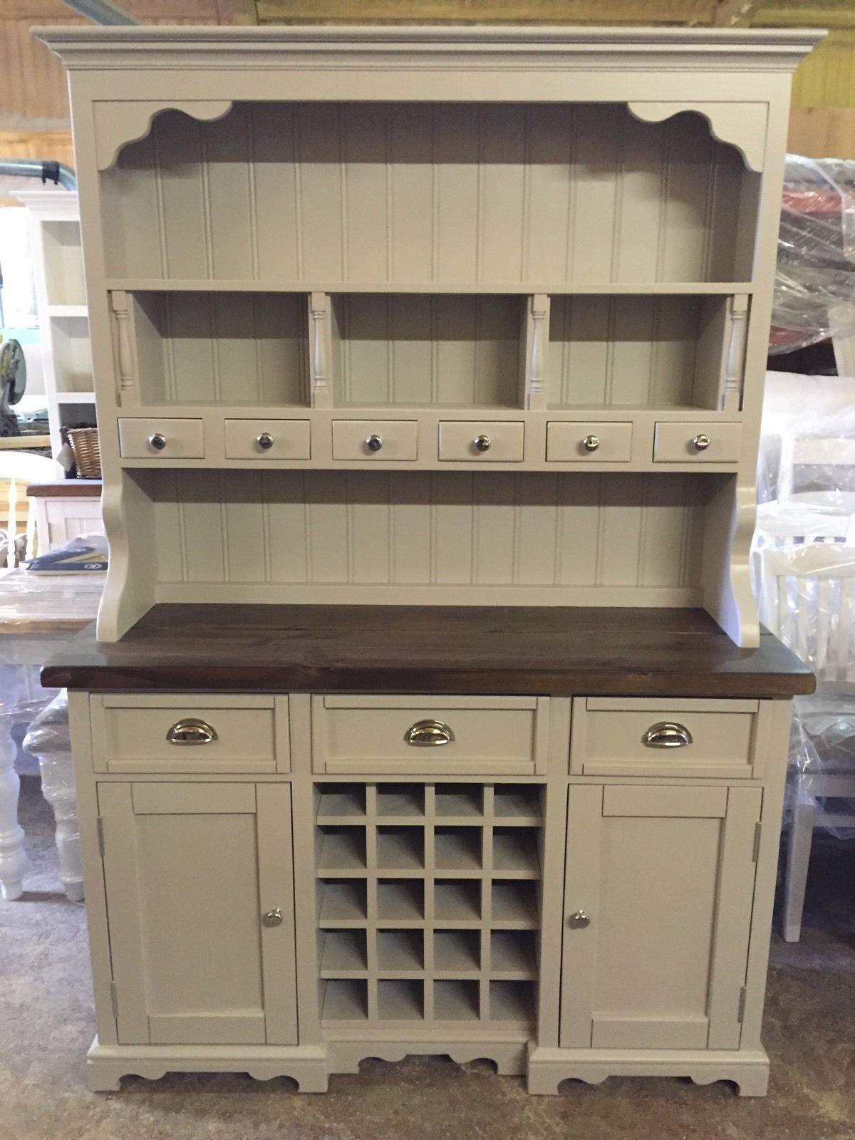 Welsh Dresser Farmhouse Kitchen Unit Rustic Shabby Chic Oak Pine