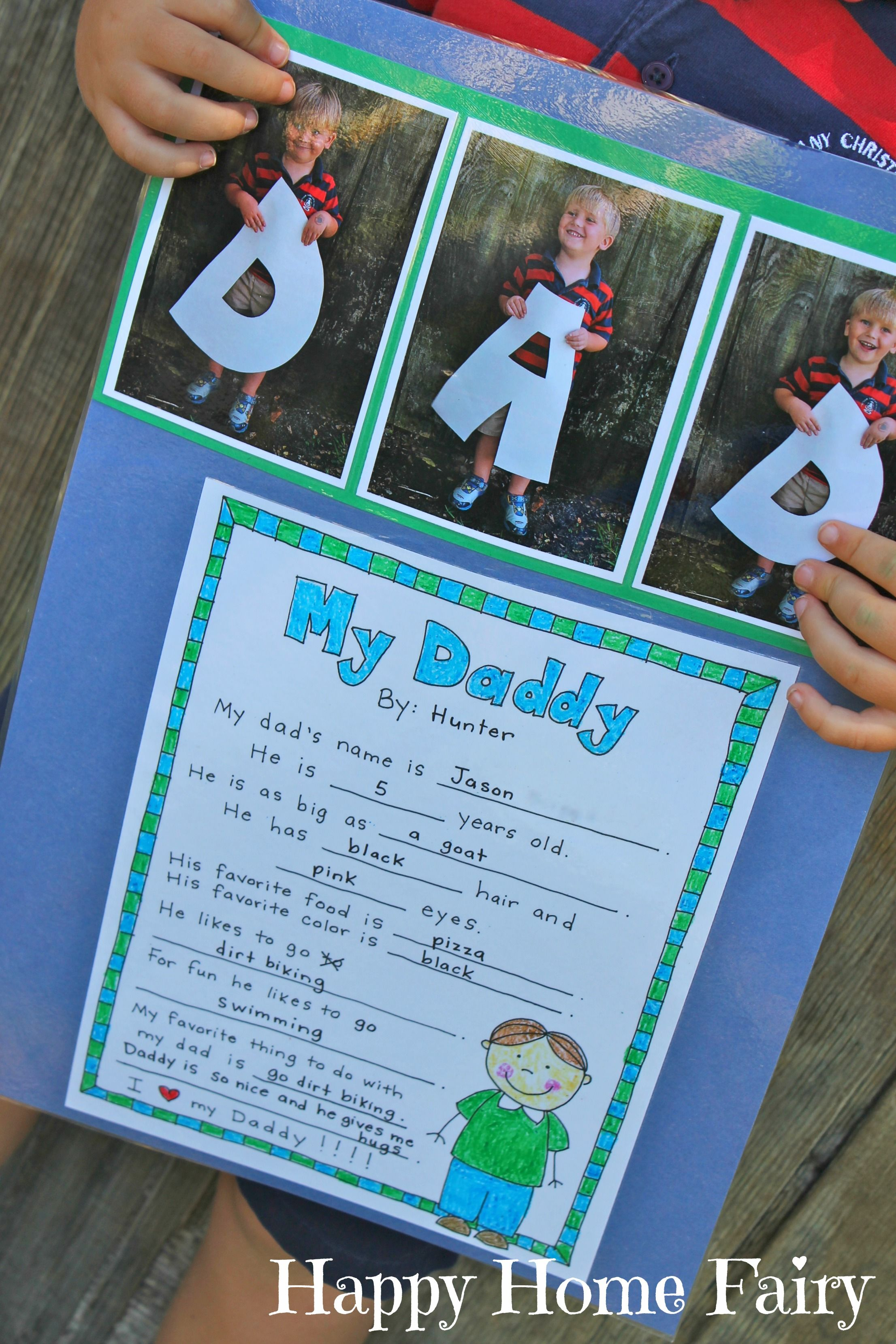 Fathers Day Project  Free Printable