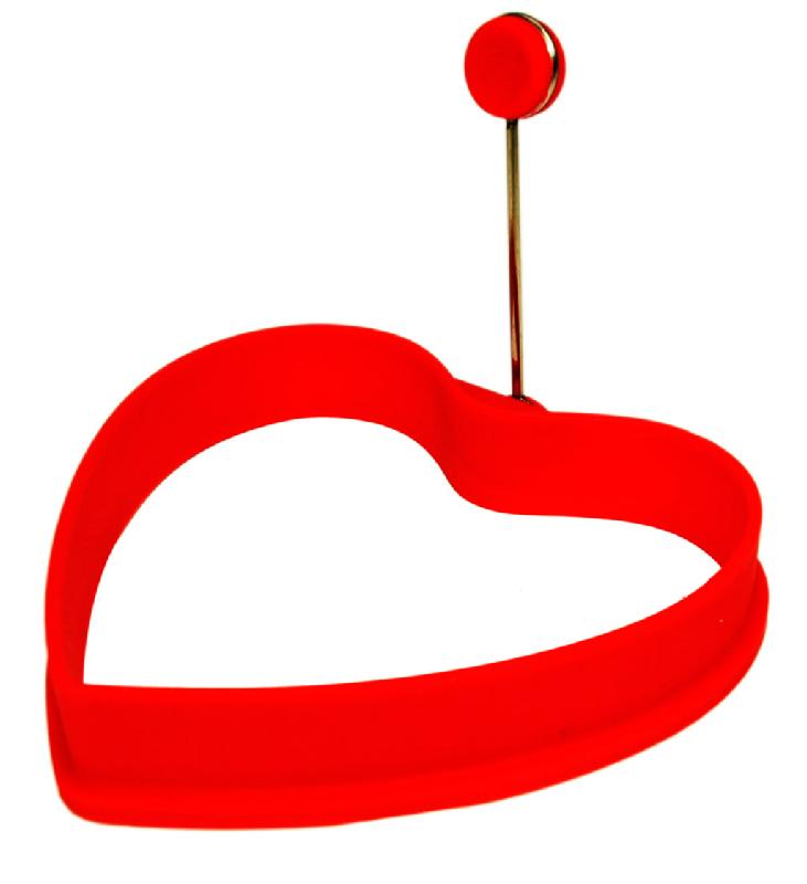 Kananmunan paistomuotti, punainen sydän 4,50€