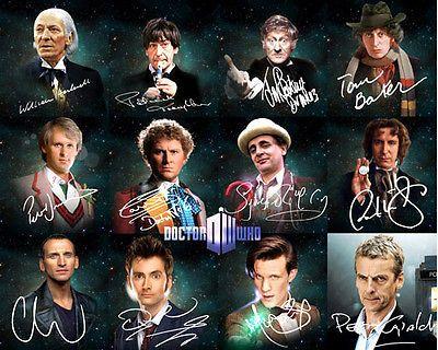 Doctor Who 12 Doctors Matt Smith David Tennant Signed Photo Autograph Reprint | eBay