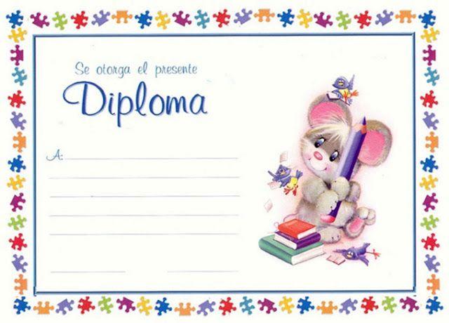 Dibujos y Plantillas para imprimir: Diplomas para imprimir | Títulos ...