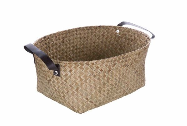 This beautiful Seagrass-Reed Storage Basket in Natural Finish is an ideal choice for being used as a household storage or an office container.