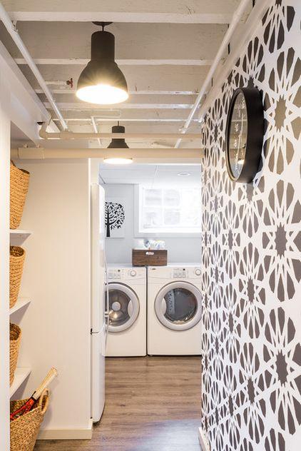 basement reno including laundry room by justine sterling design rh pinterest com