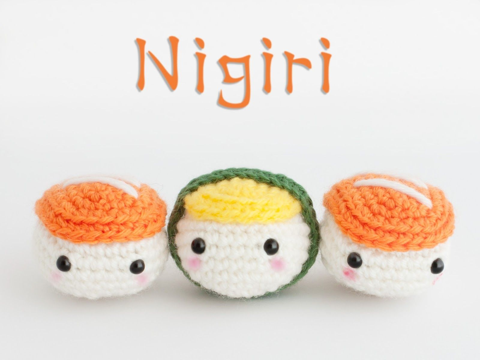 Amigurumi Sushi - FREE Crochet Pattern / Tutorial | Amigurumi ...