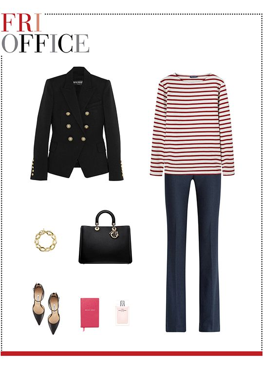 2a4f630c956 Mizhattan - Sensible living with style   MIZZY S WEEKLY WARDROBE  Saint  James Striped Top