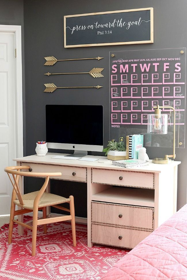 this desk will inspire you while you work from home office rh in pinterest com