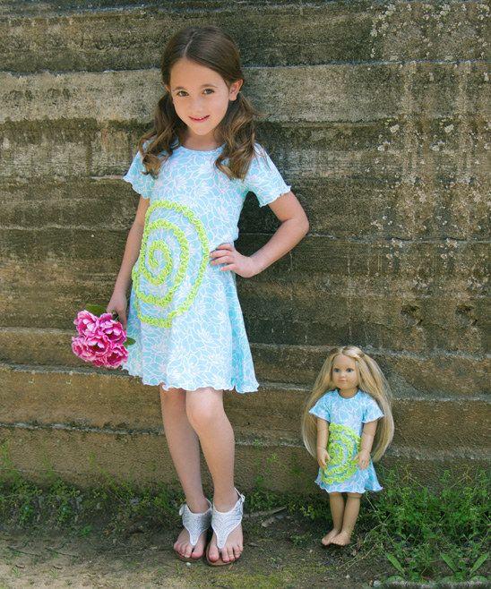 Lilli Lovebird Turquoise Shelley Dress & Doll Dress | zulily