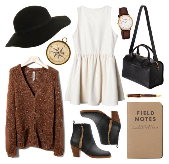 """Untitled"" by hanaglatison ❤ liked on Polyvore featuring Pull&Bear, Acne Studios, Smythson, Miss Selfridge, Frédérique Constant and Mont Blanc"