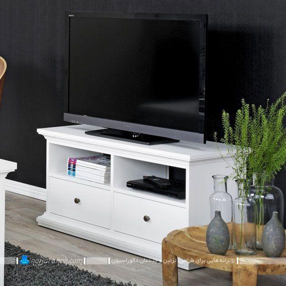 میز تلویزیون چوبی و شیشه ای مدل های شیک و جدید دکوراسیون
