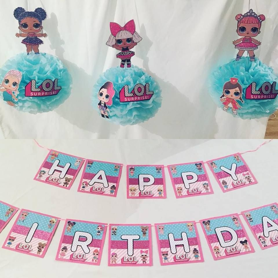 Lol surprise doll party supplies suprise birthday party