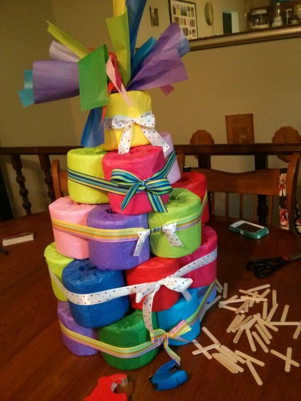 Toilet Paper Cake Toilet Paper Cake Bday Gifts For Him Mother S Day Gift Baskets