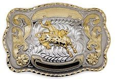 WESTERN BULL RIDER RODEO COWBOY BIG BELT BUCKLE NEW TEXAS