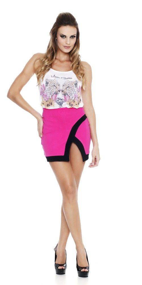 Maria Gueixa Geometric Pink Skirt