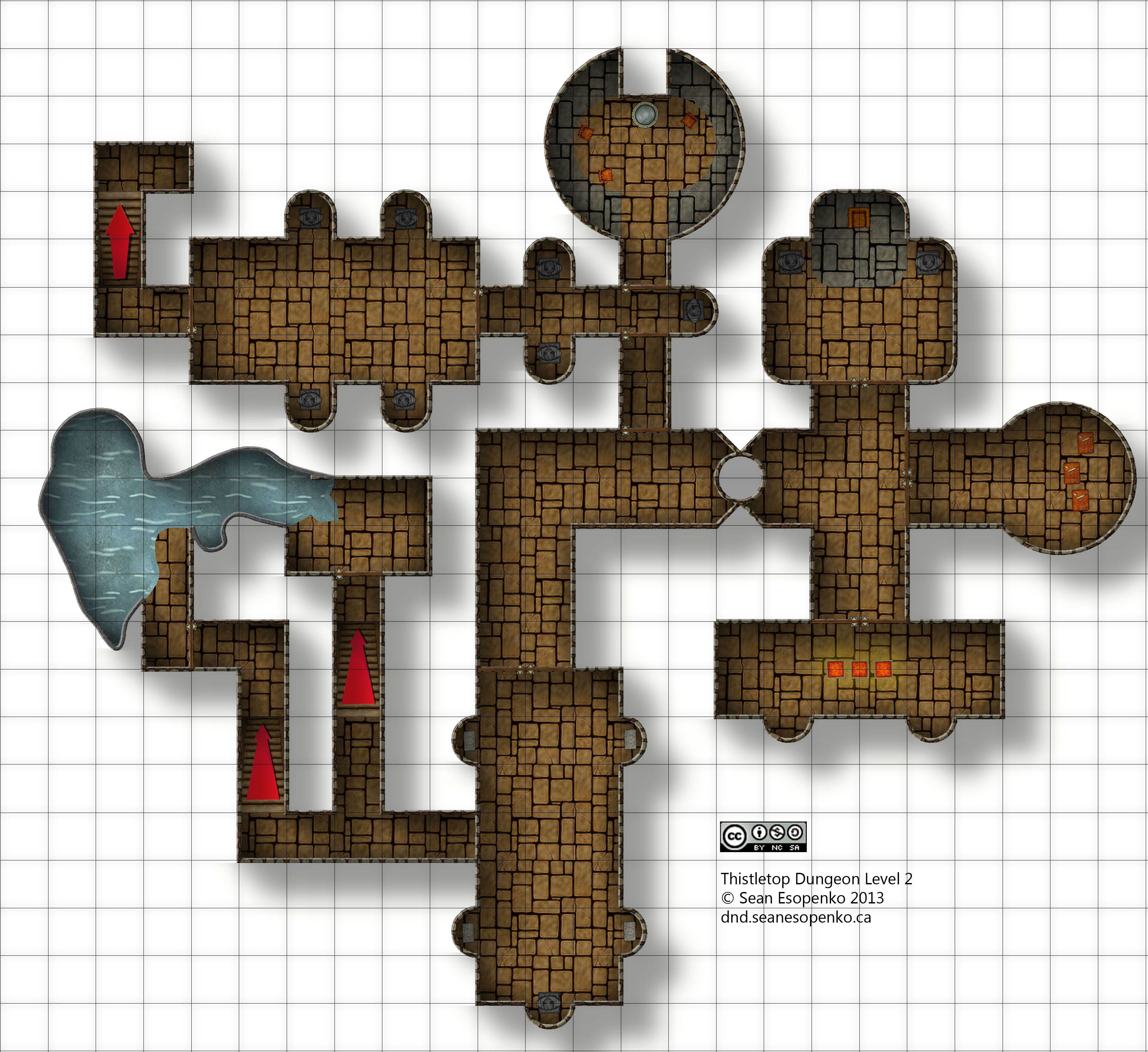 Thistletop dungeon level 2 pathfinder rise of the for Floor 2 dungeon map