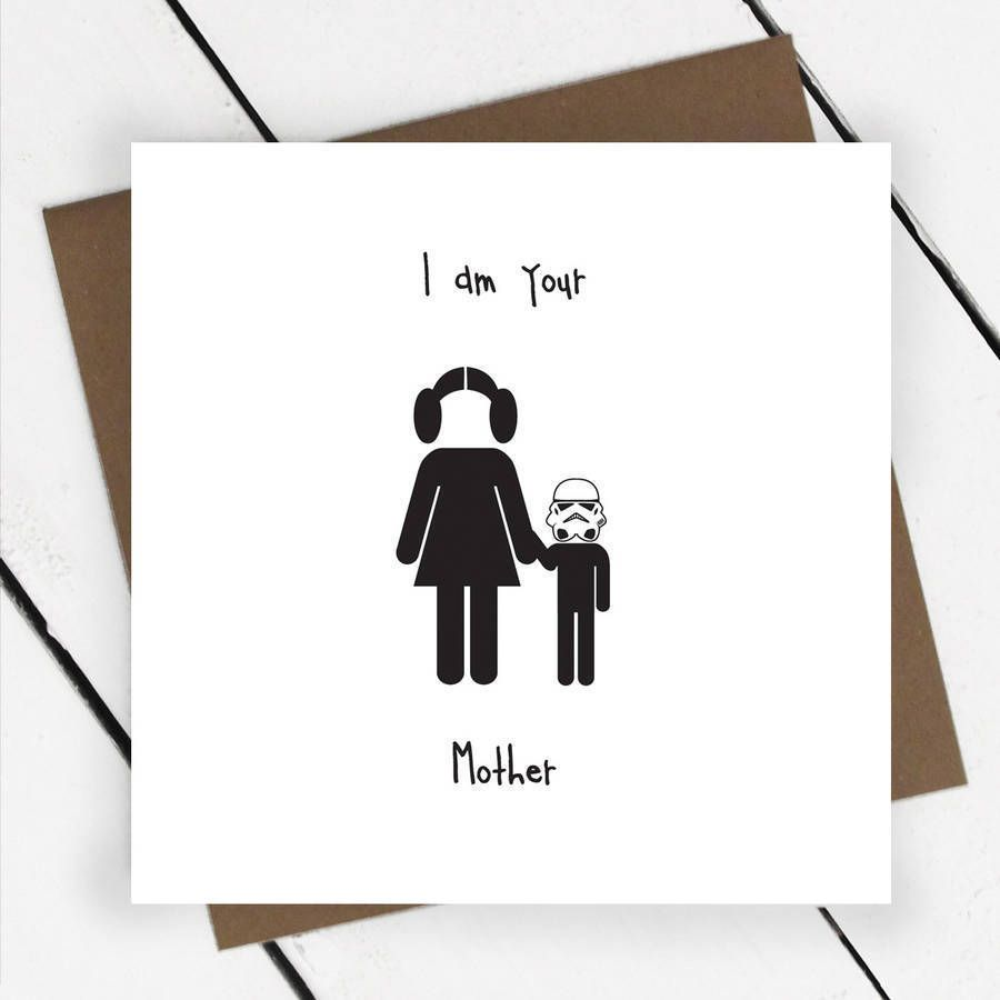 Mother Birthday Card Mother S Day Humorous Star Wars Mum Mummy