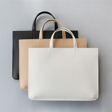 1b4247705 Mulheres homens bolsas pasta do negócio de couro PU sacos de ombro bolsa  notebook bolsa para laptop de moda feminina casual black white HB0006(China  ...