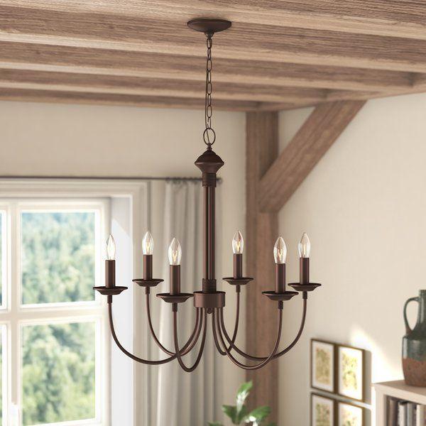 shaylee 6 light candle style chandelier in 2019 lighting rh pinterest com