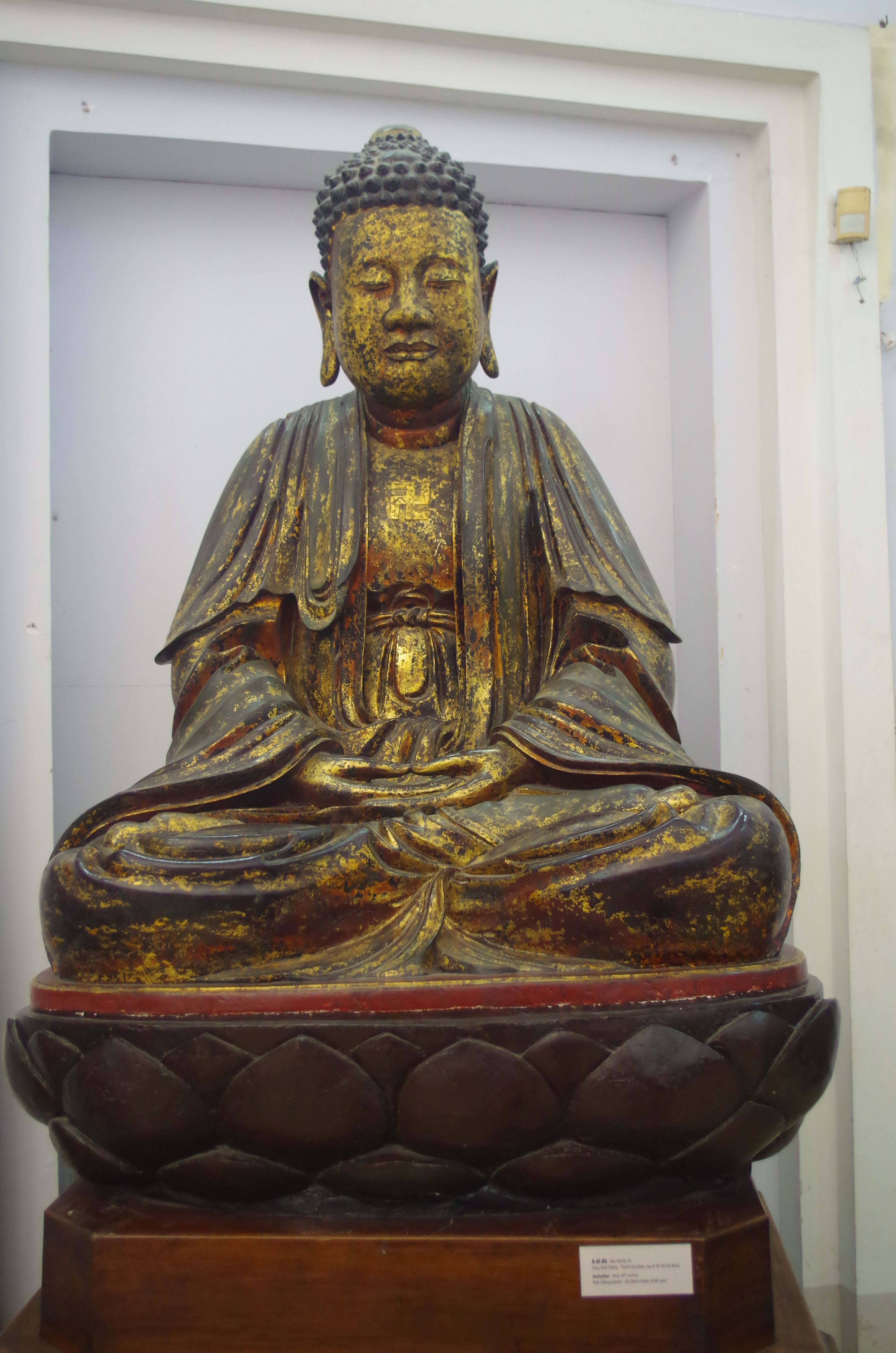 Buddha In Lotus Flower At Museum Of History In Ho Chi Minh City