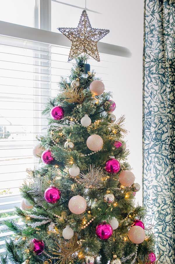 Modern Glam Christmas Tree - pink Christmas happy holidays
