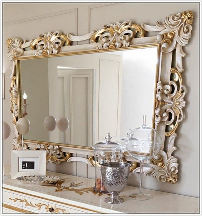 Large wall mirrors mirrors pinterest decorative for Large framed mirrors for walls