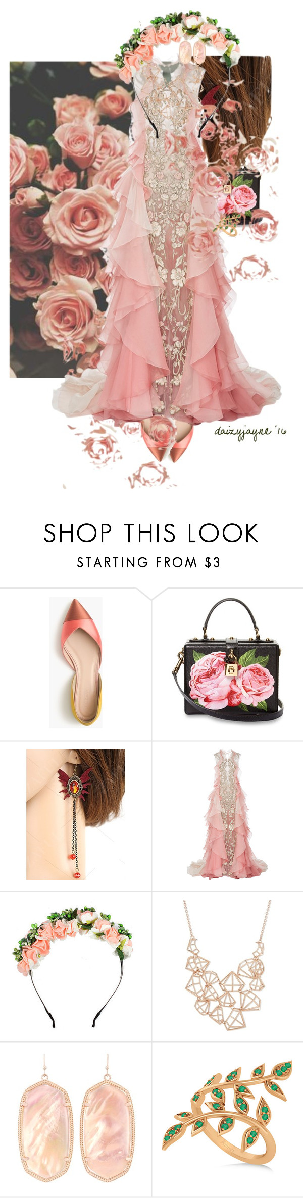 """rose petals"" by daizyjayne ❤ liked on Polyvore featuring Witchery, J.Crew, Dolce&Gabbana, Marchesa, Ted Baker, Kendra Scott, Allurez, contestentry and MastersOfMimicry"