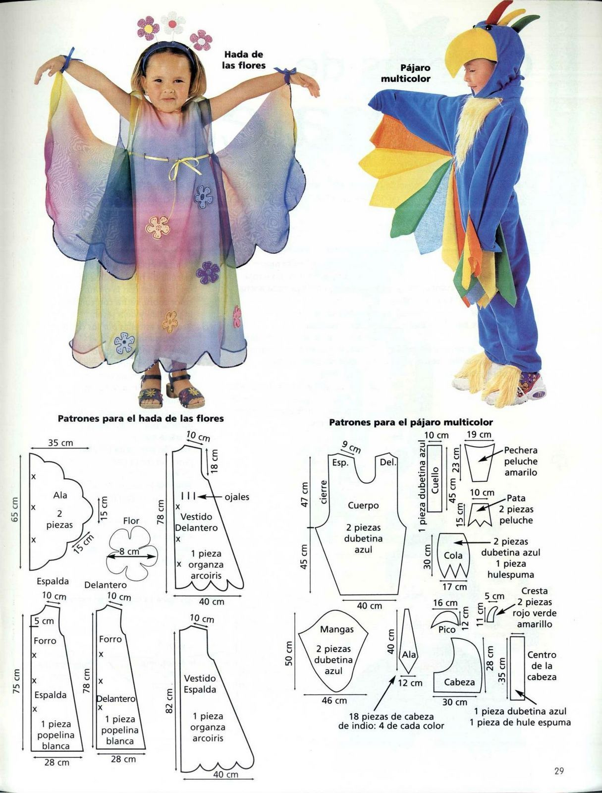 Patrones de Disfraces para Niñ@s | Molde, Patrones y Patrones de ...