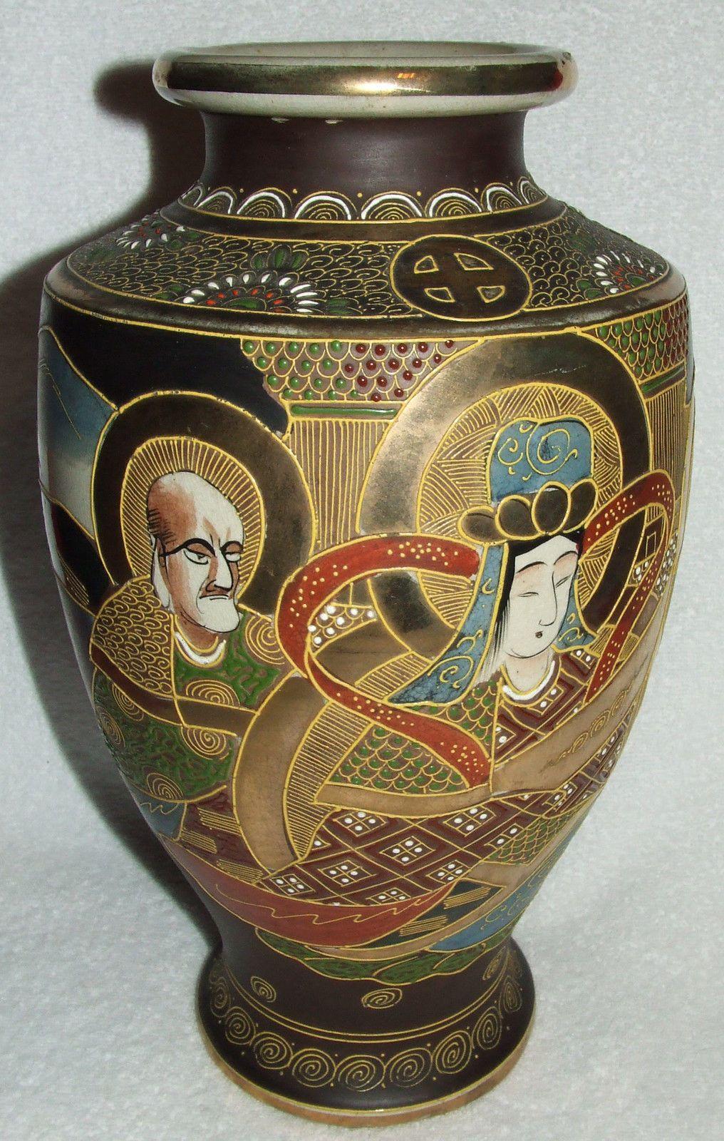 Signed shimazu crest antique japanese moriage satsuma 14 vase c signed shimazu crest antique japanese moriage satsuma 14 vase c meiji reviewsmspy