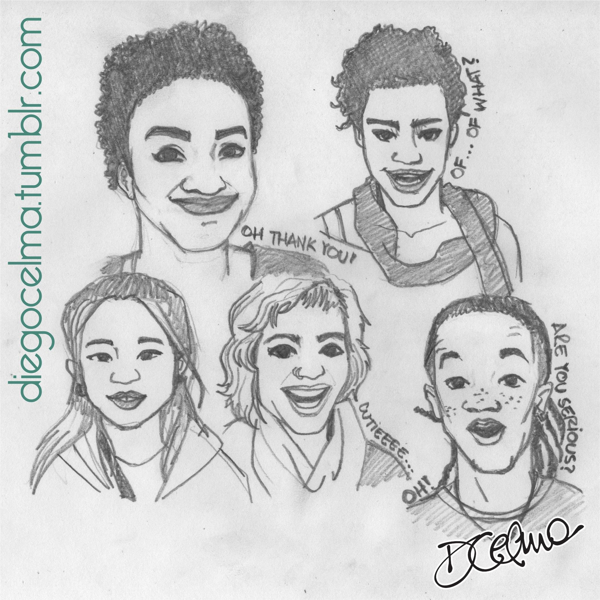 """Sketches inspired in the beautiful work of 18-year-old student Shea Glover, from Chicago. She posed people in front of her camera and then told them """"I'm taking pictures of things I find beautiful"""" https://www.youtube.com/watch?v=aW8BDgLpZkI #sketches #sketch #illustration #drawing #faces #facialexpressions #expressions #beautiful #SheaGlover #smile #beauty #socialexperiment #project https://www.facebook.com/diegocelmailustrador/"""