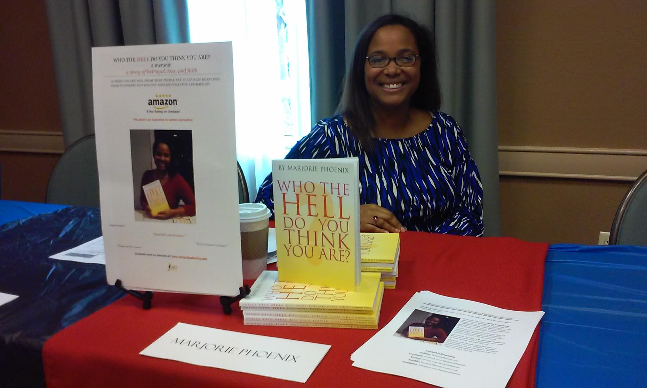 Book Stand at the Writer 2 Author Seminar