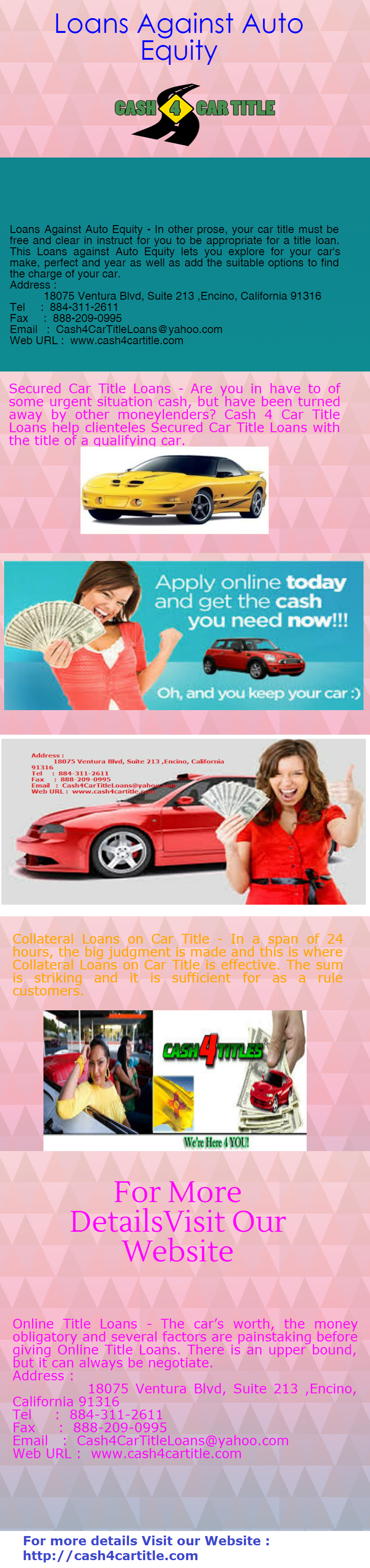 Auto Title Loans Online Choose Us During An Emergency To Get Cash Faster Amazing Options Fast Approval And No Comp Get Cash Fast Car Title Collateral Loans