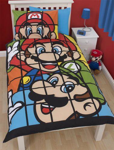 parure de lit mario et luigi 140x200 cm