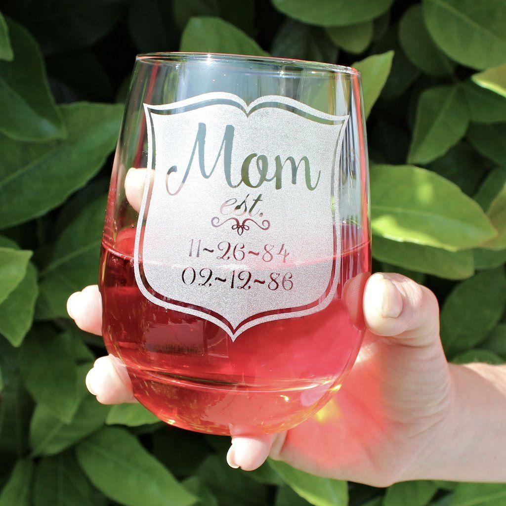 Mom Stemless Glass Style 2 Wine Mom Mom Wine Glass Stocking Stuffers For Mom