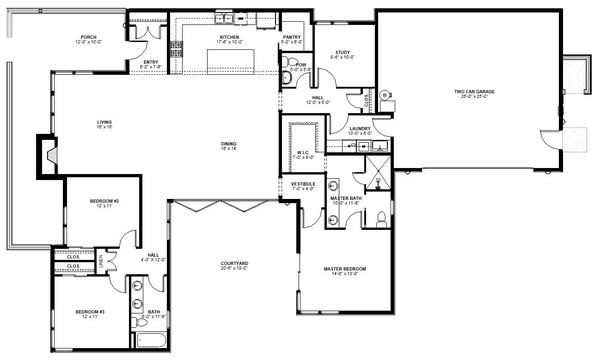 Modern Style House Plan 3 Beds 2 5 Baths 2235 Sq Ft Plan 895 101 Modern Style House Plans House Plans Floor Plan Design