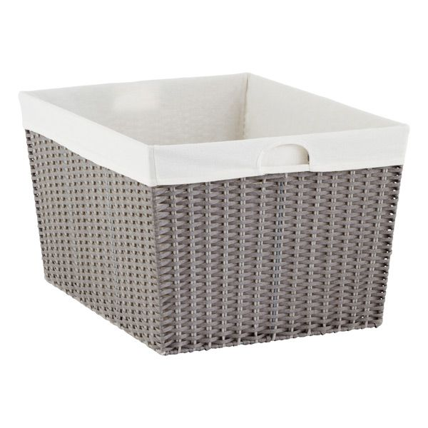 Grey Montauk Rectangular Basket Rectangular Baskets Laundry