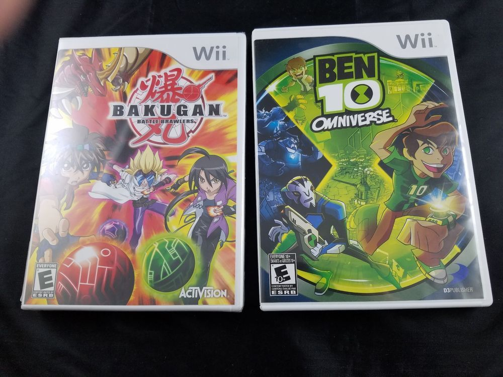 Lot Of 2 Nintendo Wii Video Games Ben 10 Omniverse Bakugan