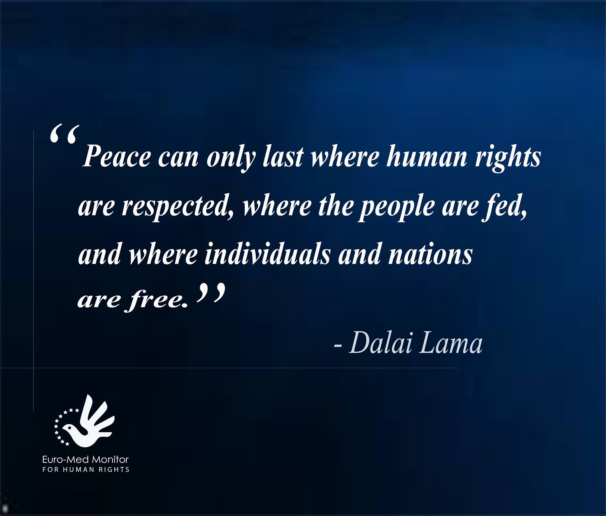 Dalai Lama On Peace And Freedom Funny Inspirational Quotes Human Rights Quotes Appreciation Quotes